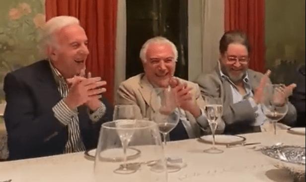 BOLSONARO VIRA PIADA EM JANTAR DE MICHEL TEMER