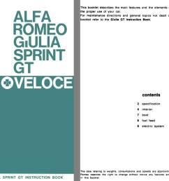 alfa romeo 1966 alfa romeo giulia sprint gt veloce supplement to giulia sprint gt instruction [ 1224 x 792 Pixel ]