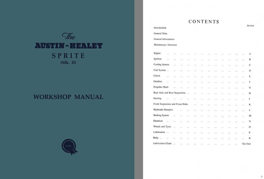 medium resolution of austin healey sprite mk ii workshop manual c1961