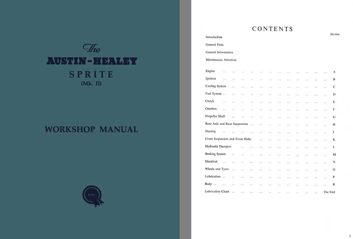 hight resolution of austin healey sprite mk ii workshop manual c1961