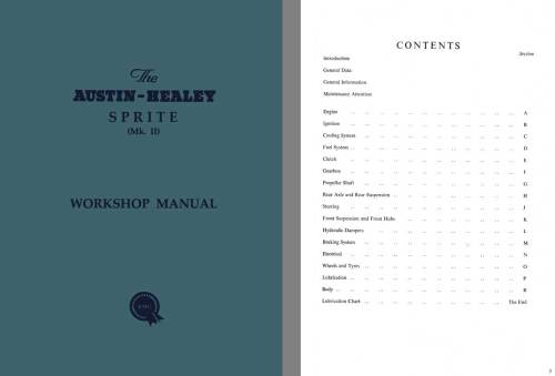 small resolution of austin healey sprite mk ii workshop manual c1961