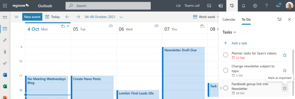 How to make Microsoft Planner tasks appear in Microsoft Outlook.
