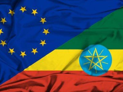 flag of ethiopia and EU