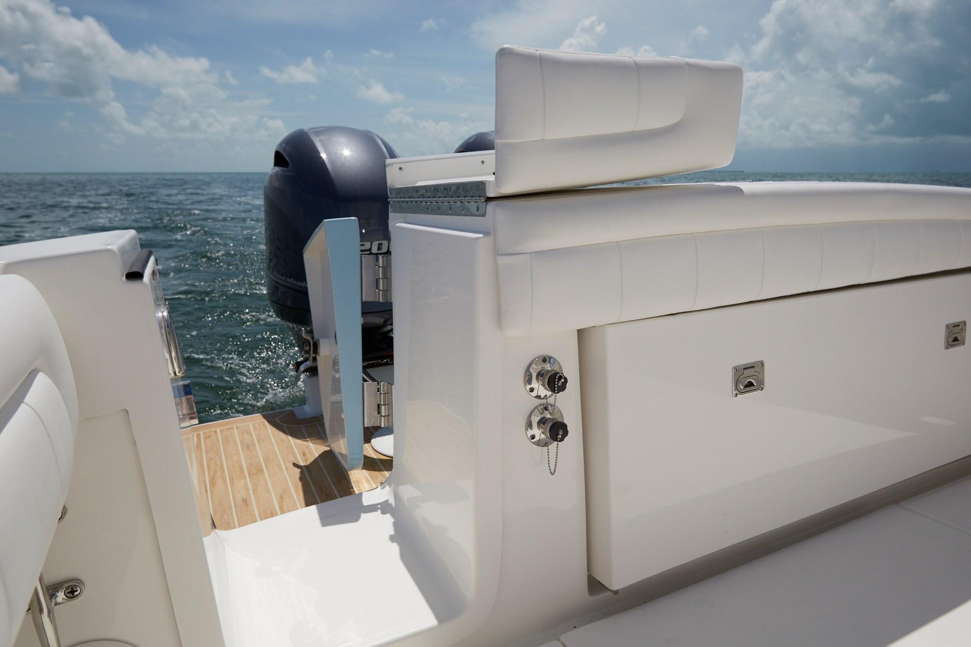 hight resolution of regulator 25 transom tuna door open