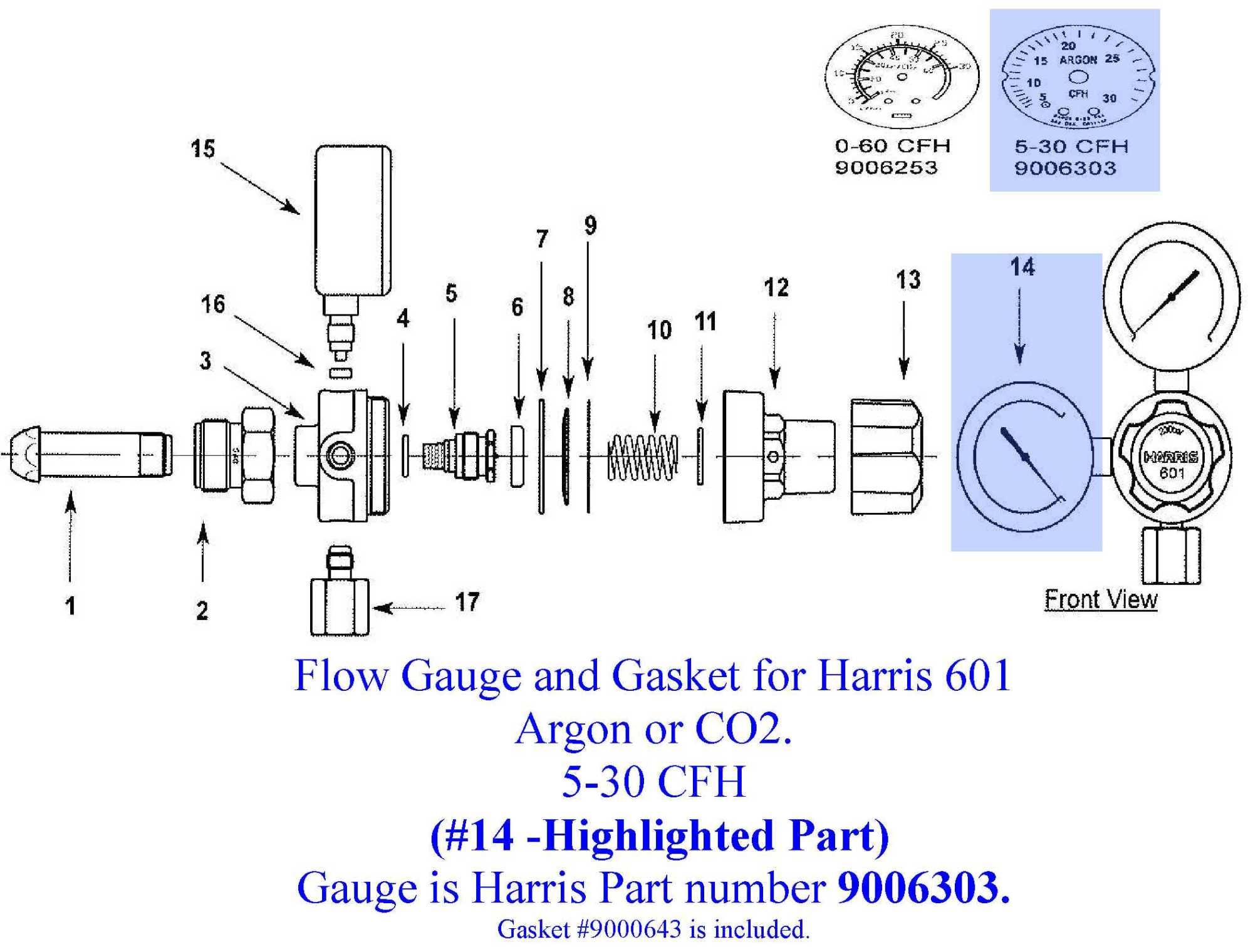hight resolution of harris 601 5 30cfh flow gauge