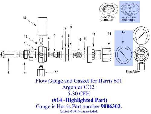 small resolution of harris 601 5 30cfh flow gauge