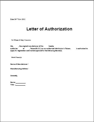 Authorization letter maps map cv text biography template for Notarized letter of authorization template