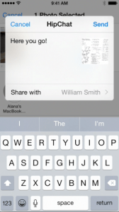 HipChat on iOS8