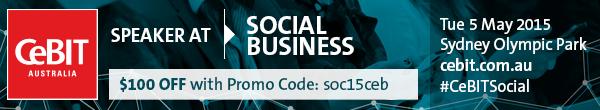 Promo code for Social @ CeBIT 2015