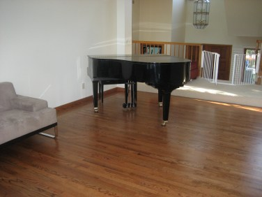 Resanded Hardwood floors