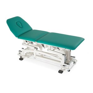 FISIOTECH Atena Couch – 3 Section Electrical/Hydraulic Couch w/ Adjustable Height for Rehab Therapy /Massage/Trendelenburg Position Examination