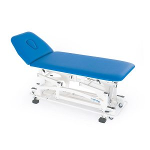 FISIOTECH Elia Couch - 2 Section Electrical/Hydraulic Couch w/ Adjustable Height for Rehab Therapy /Massage/Trendelenburg Position Examination