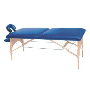 FISIOTECH HYDRA Couch – 2 Section Wooden Frame Portable Examination Table, Under-bed Clearance for Rehab Therapy, Post-Operation Examination (116510)