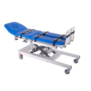 FISIOTECH Ulisse Table – 4 Sections Tilt Table w/ Fixed Height, Adjustable Headrest, Under-bed Clearance for Post-Trauma Care Therapy, Rehab Therapy, Examination