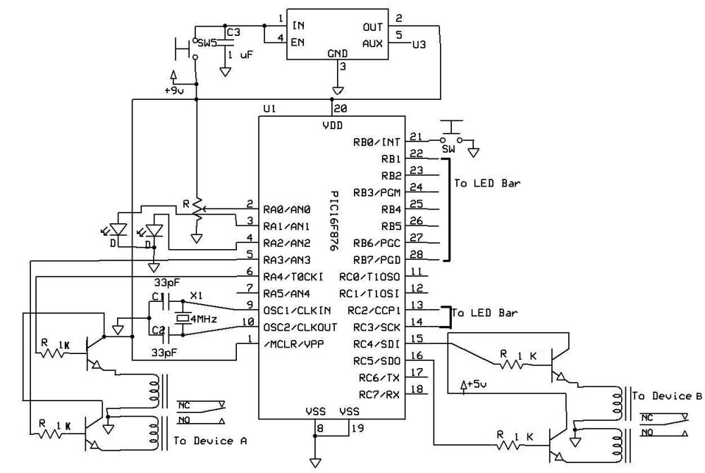 medium resolution of the switch relay circuit diagram the primary components are a pic and