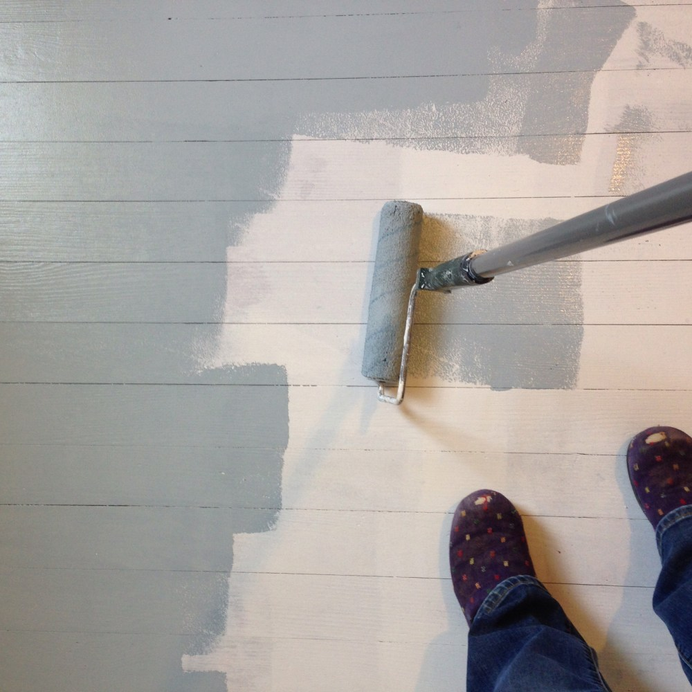 How to paint a wood floor.