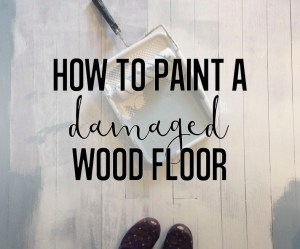 how to paint a damaged wooden floor