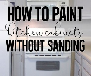 The easiest and best way to paint cabinets with no sanding required.