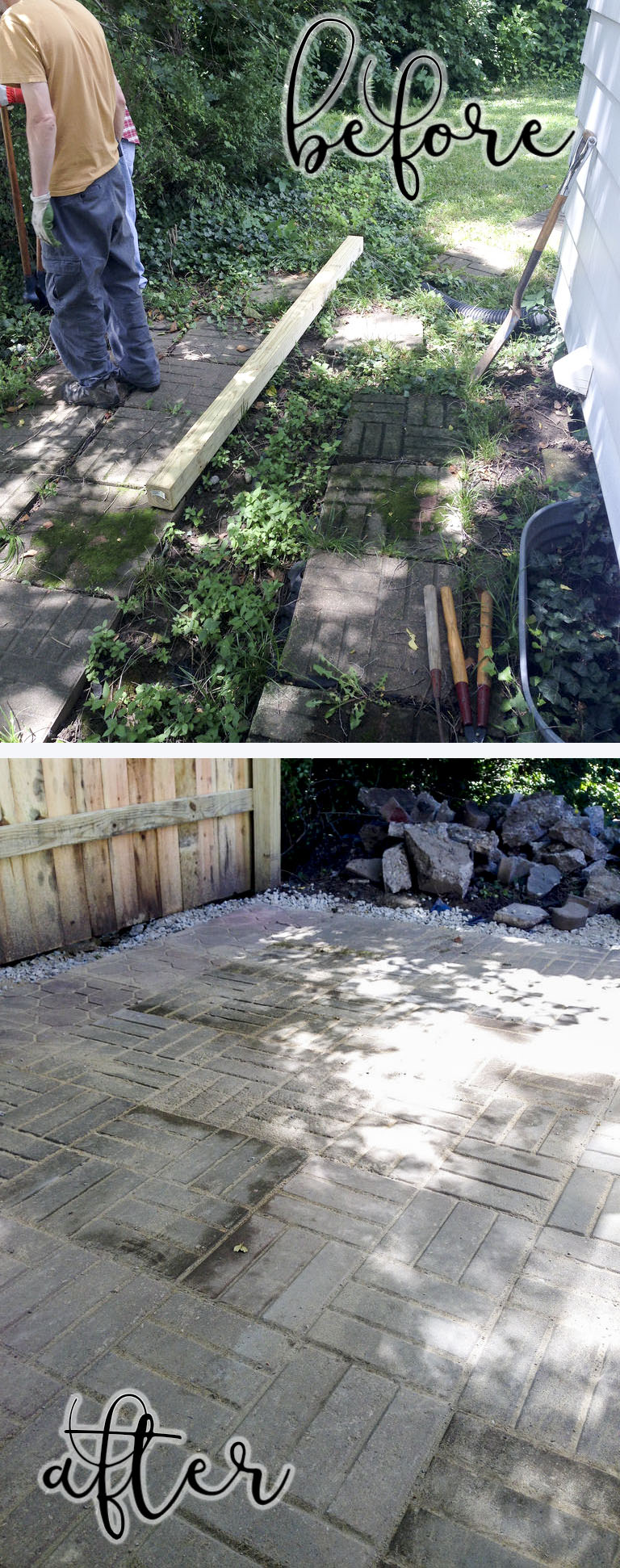 How to lay a backyard patio with pavers.