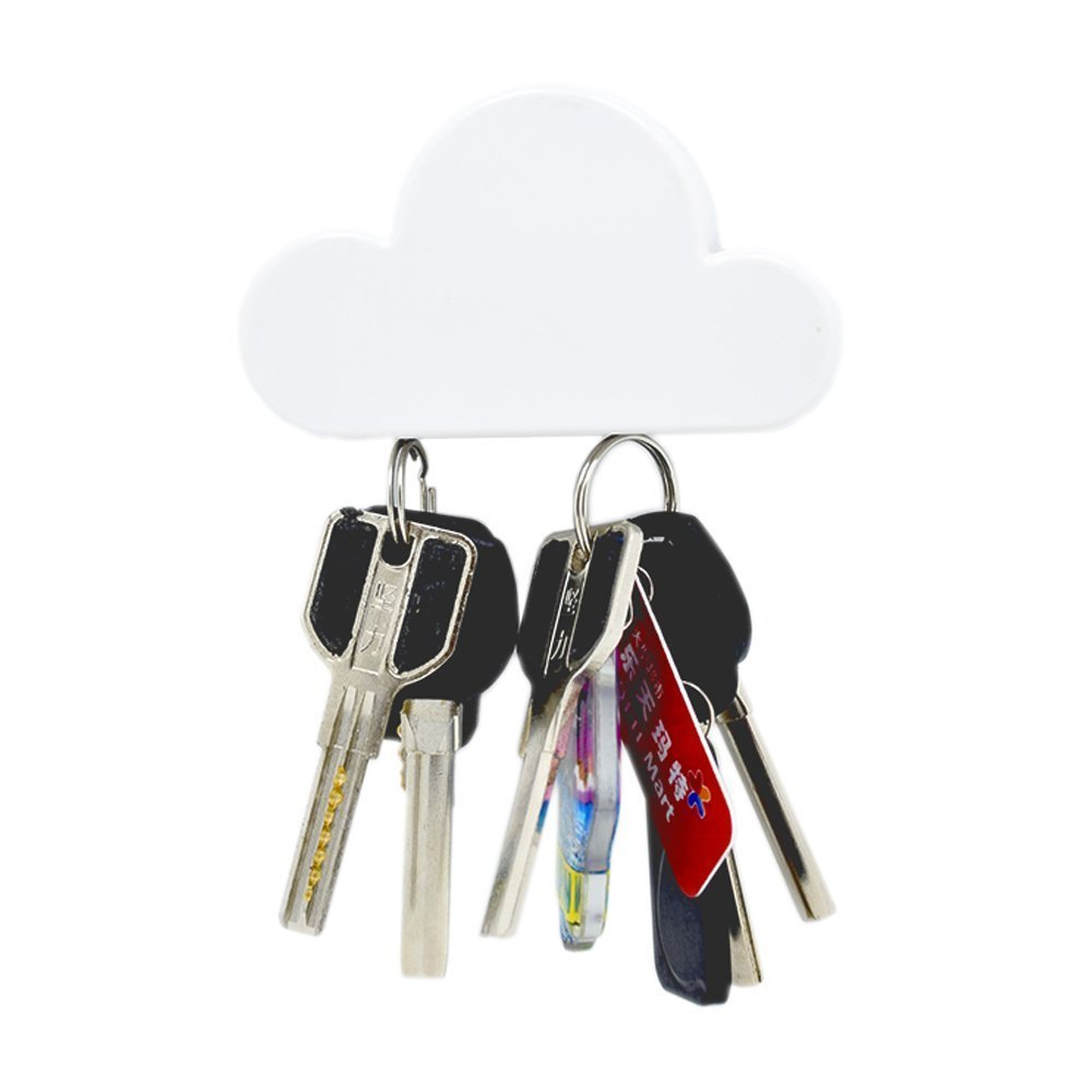 Magnetic key holder shaped like a cloud.