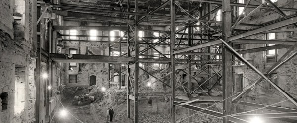 The entire inside of the white house was gutted during the 1950 renovation.