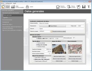 Estudio de rehabilitación energética de edificios. Datos generales. Conexión con la sede electrónica del catastro