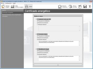 Estudio de rehabilitación energética de edificios. Listados. Certificacdo energético y Estudio económico de la rehabilitación