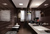 black_bathroom-hausdekoration