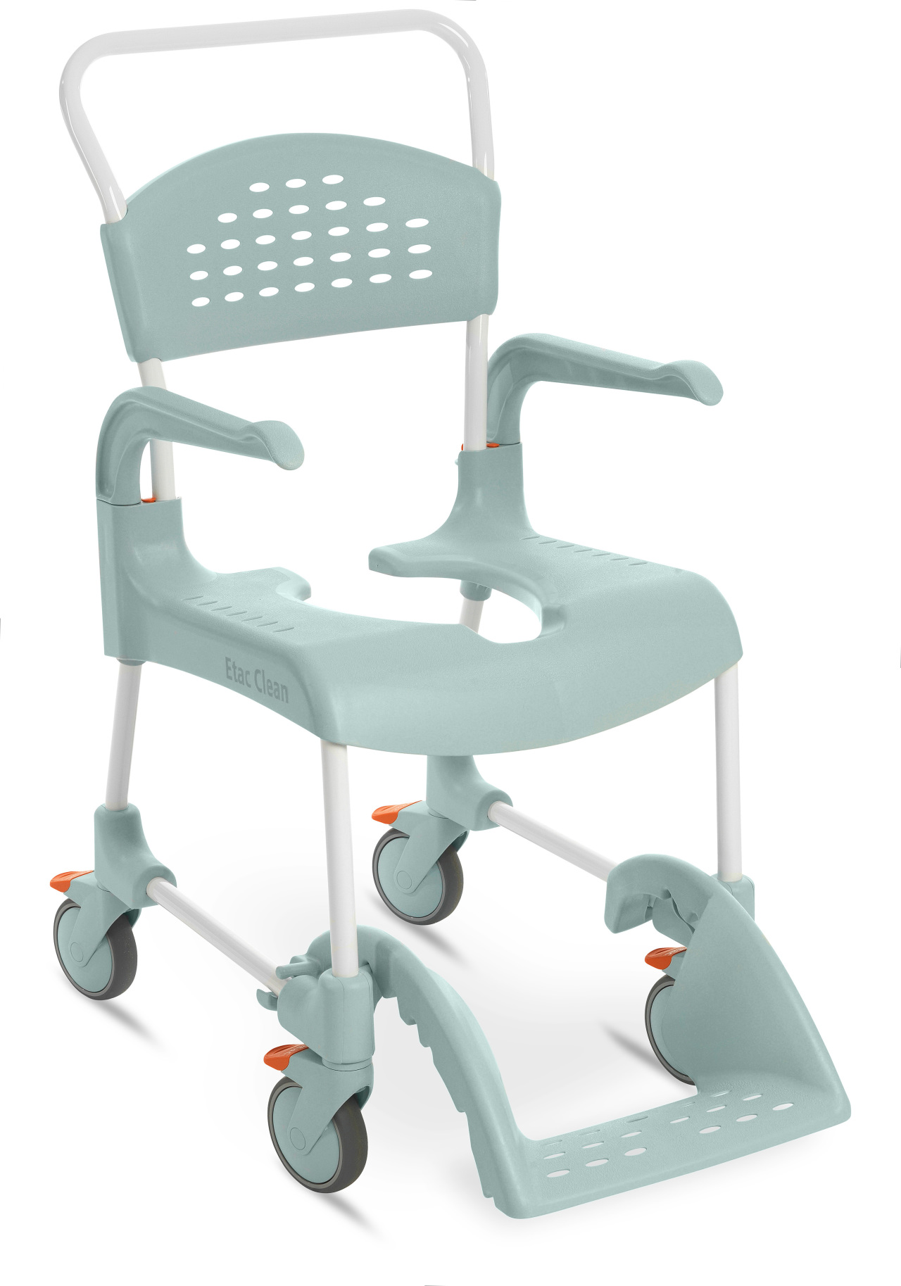 Handicap Shower Chairs Etac Clean 24 In Shower Commode Chair With Wheelchair Wheels