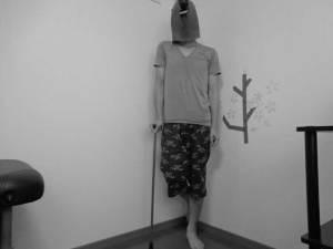 ダイソーの100円杖を用いたトレーニング