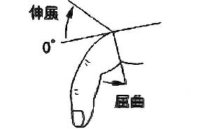 手指MCP関節屈曲・伸展の関節可動域(正常値)