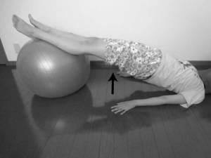 バランスボールを用いたリハビリ方法4