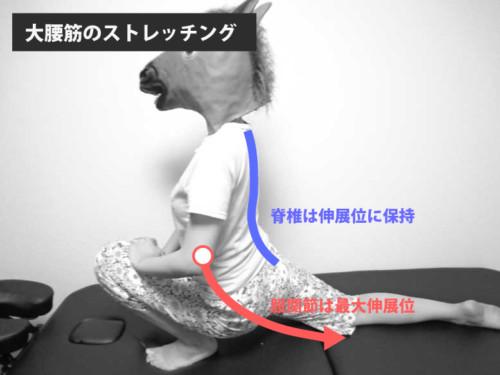 大腰筋のストレッチング1