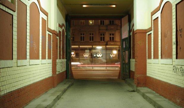 Kurzsichtig, unscharf, Nacht, Einfahrt, Warschauer Strasse