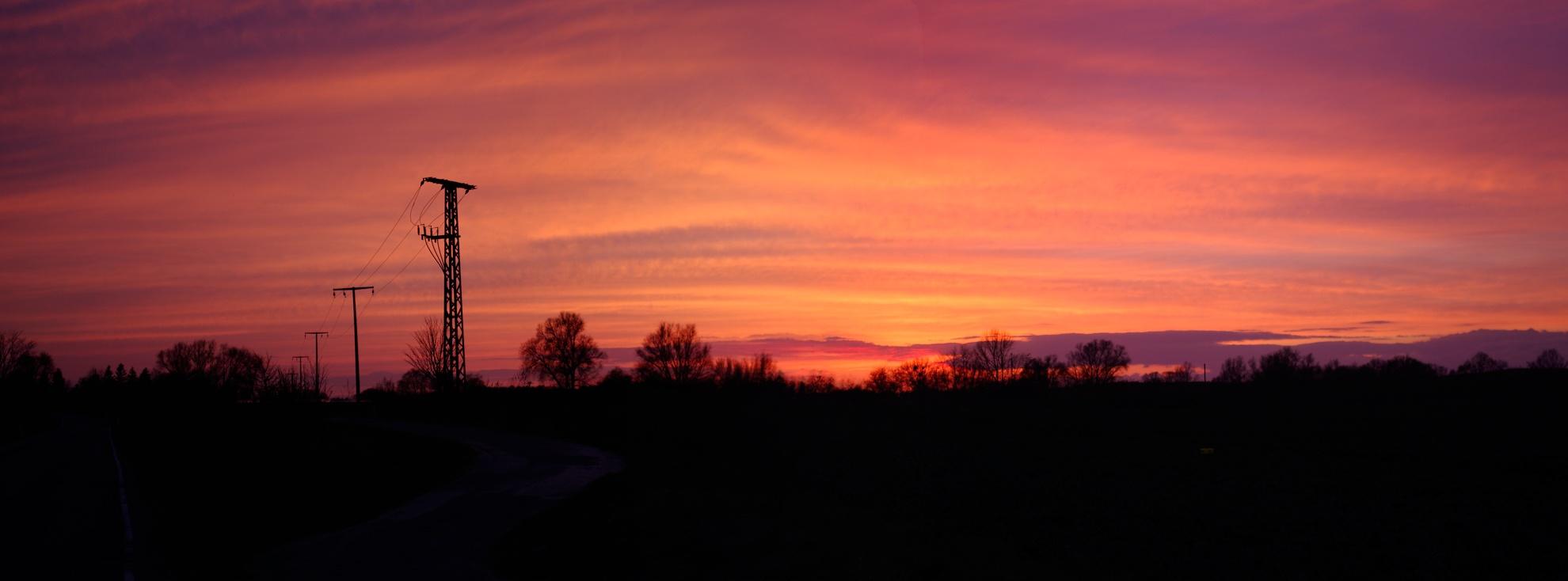 Auf in den Sonnenuntergang
