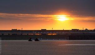 Sonnenuntergang an der Tempelhofer Freiheit