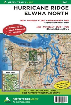 Maps Of Hurricane : hurricane, Green, Trails, Hurricane, Ridge, Elwha, North, Co-op