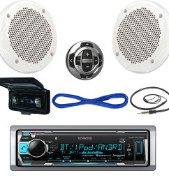 details about kenwood usb bluetooth boat radio remote cover 6 5 200w speakers w wires antenna [ 1600 x 1600 Pixel ]