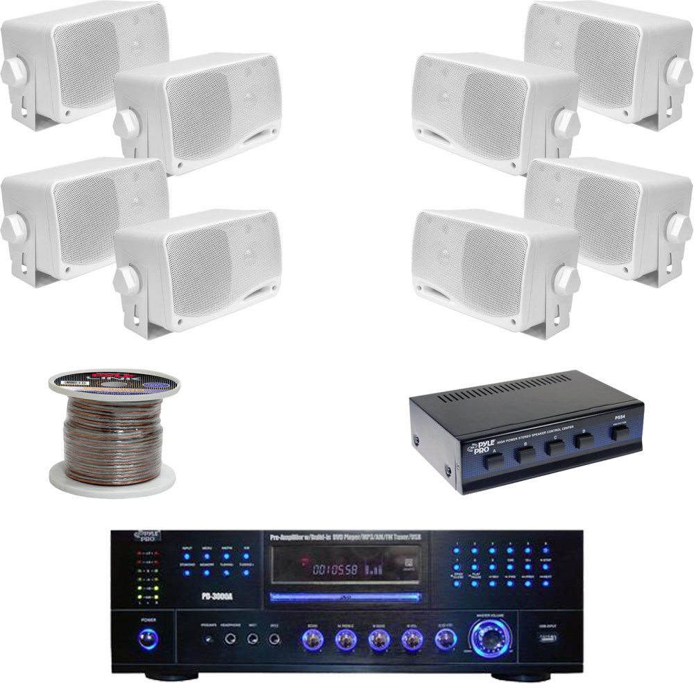 medium resolution of details about pd3000w dvd usb receiver 3 5 box speakers speaker selector speaker wiring