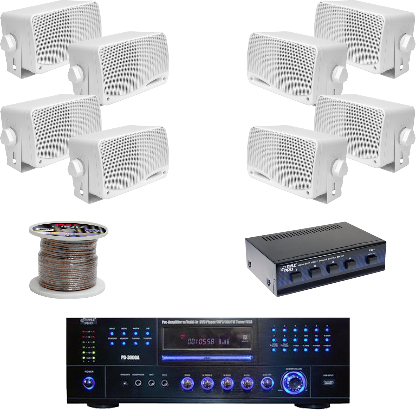 hight resolution of details about pd3000w dvd usb receiver 3 5 box speakers speaker selector speaker wiring