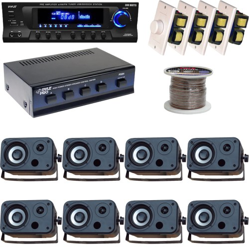 small resolution of details about 5 25 marine box speakers volume knob speaker selector wires usb am fm receiver