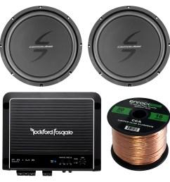 details about 12 car 4ohm voice coil subwoofer speaker wire rockford fosgate 500w amplifier [ 1600 x 1600 Pixel ]