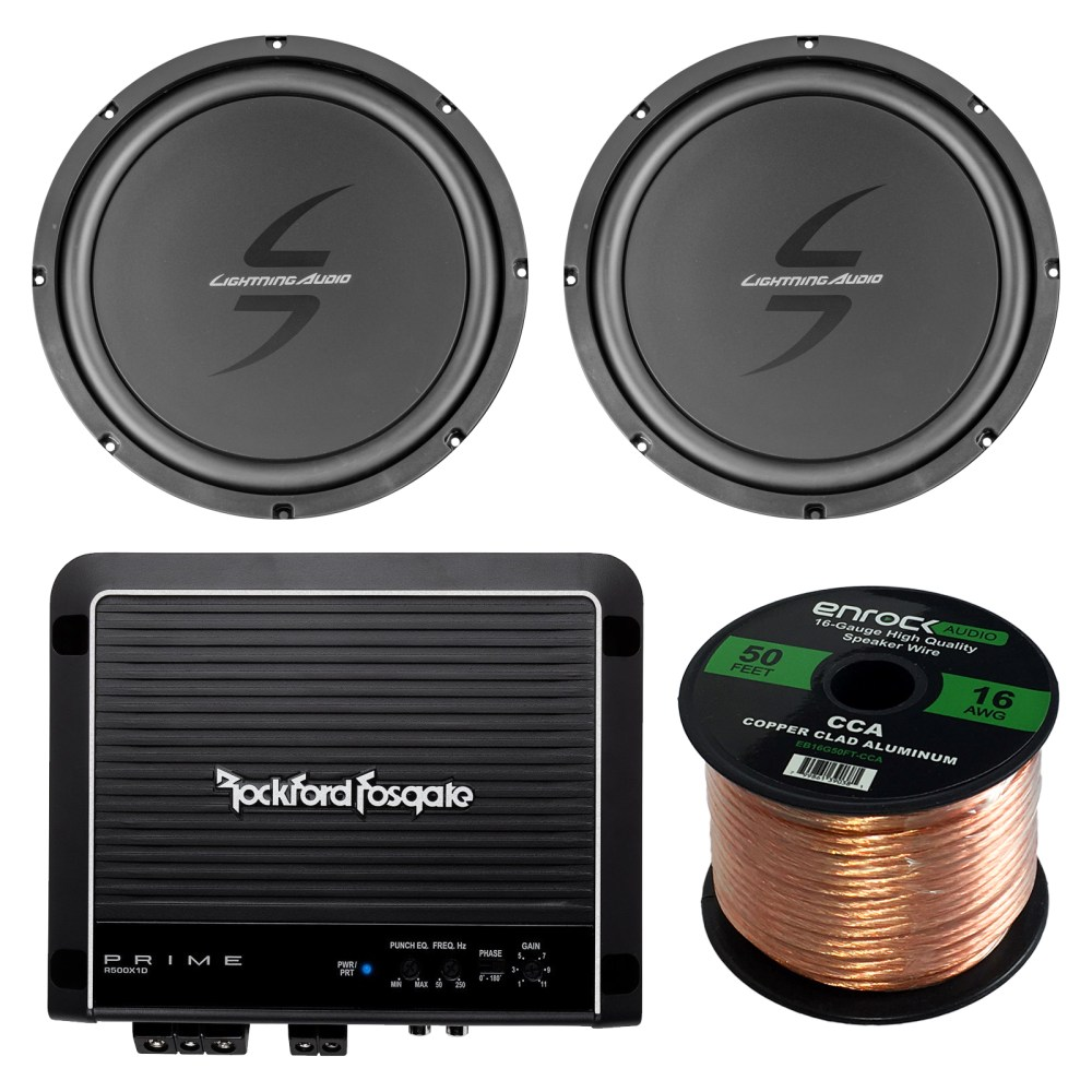 medium resolution of details about 12 car 4ohm voice coil subwoofer speaker wire rockford fosgate 500w amplifier