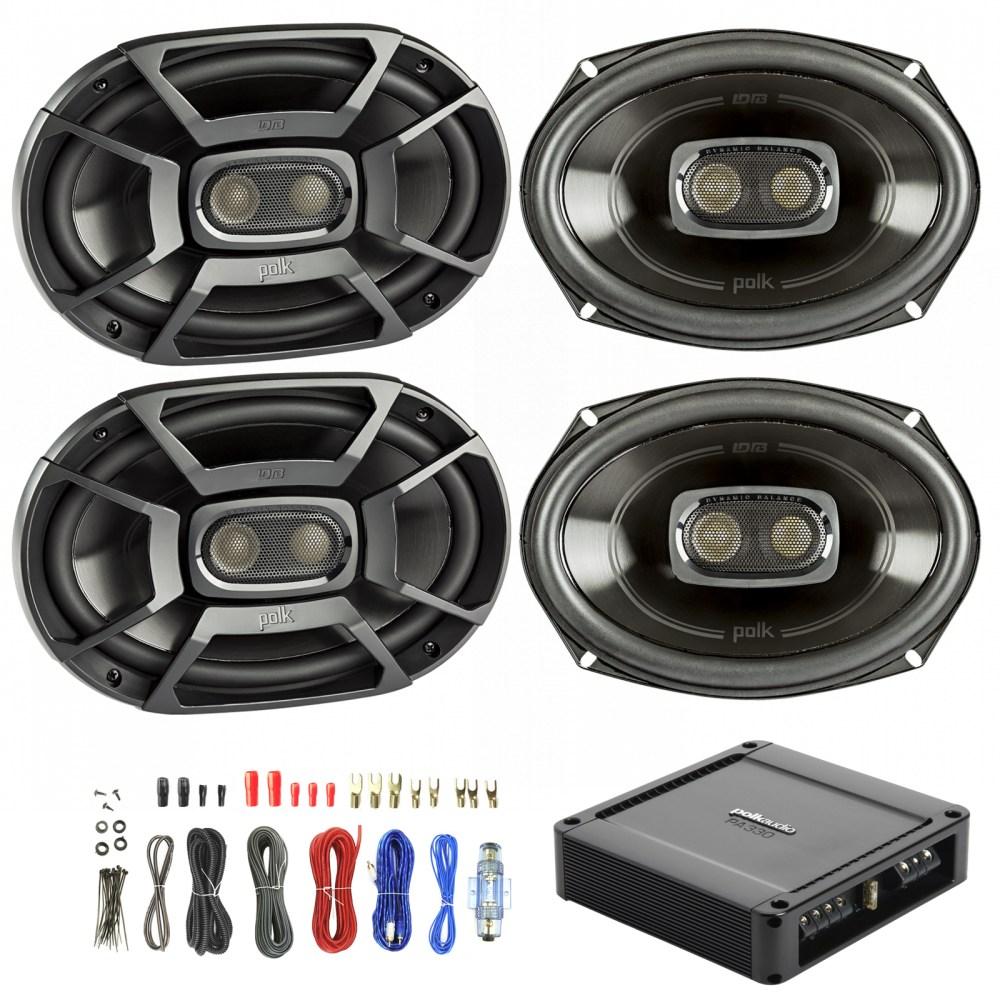 medium resolution of details about 4x polk 6x9 450w car boat speakers polk 330w 2 ch power amp wiring kit