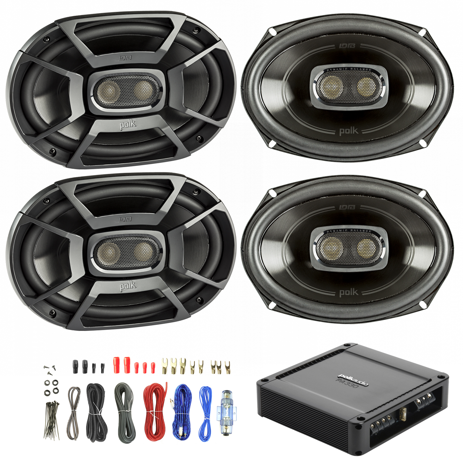 hight resolution of details about 4x polk 6x9 450w car boat speakers polk 330w 2 ch power amp wiring kit