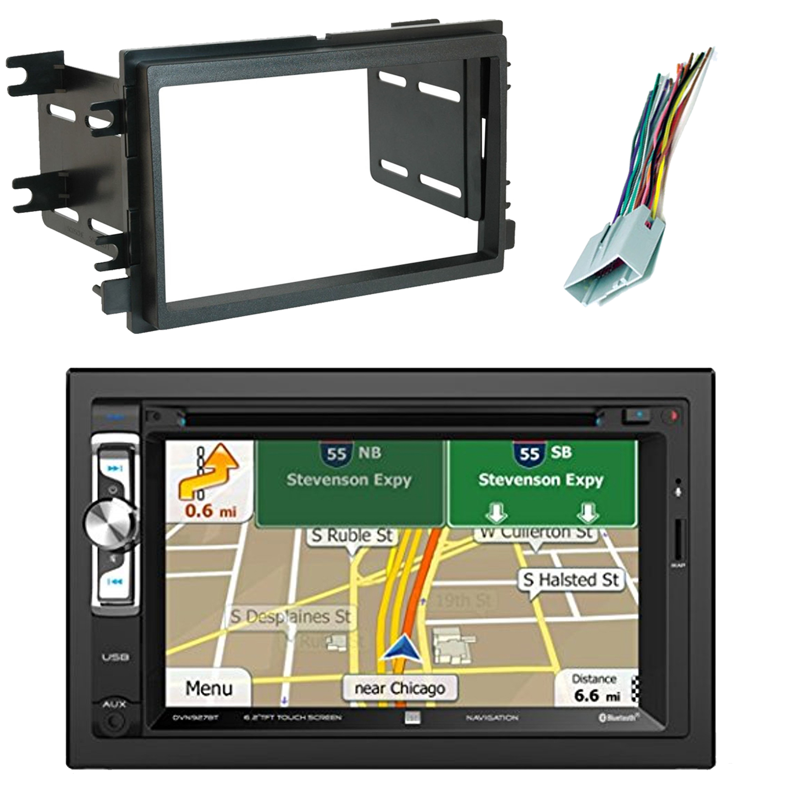 hight resolution of scosche fd1426b dash kit the 2004 up ford double iso double din install dash kit allows you to replace your vehicle s factory stereo and improve the