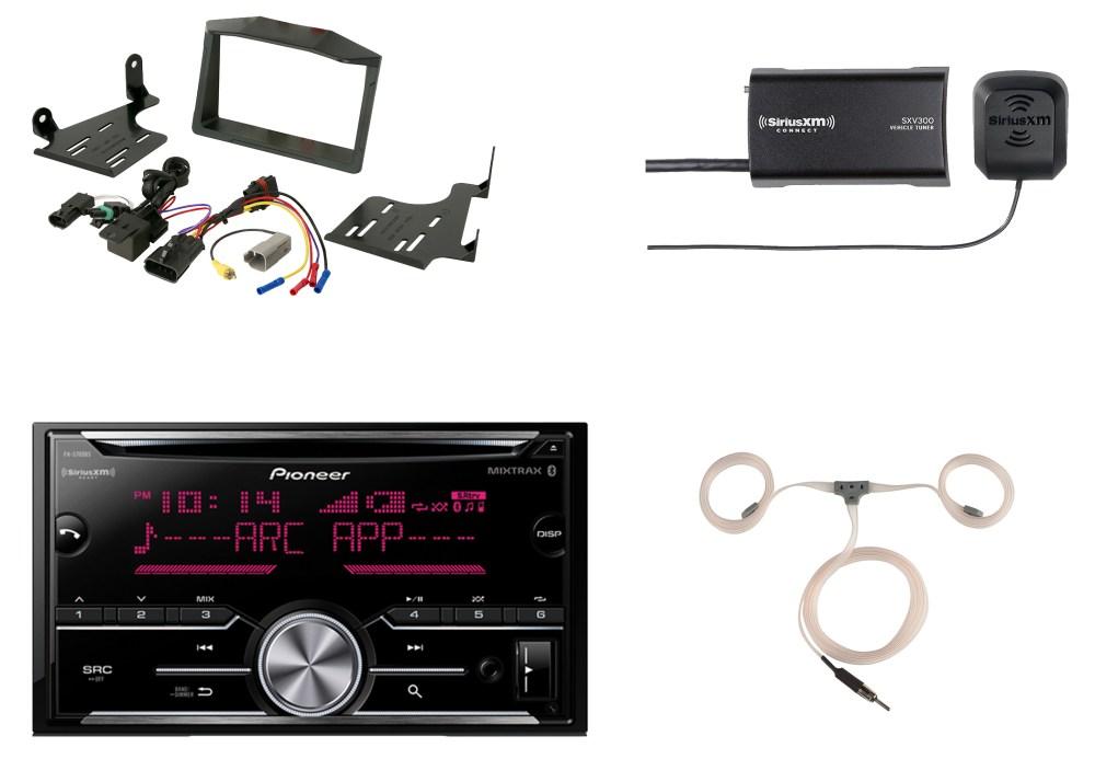 medium resolution of  harness auto pioneer bluetooth cd radio siriusxm tuner scosche polaris dash kit on ford stereo wiring