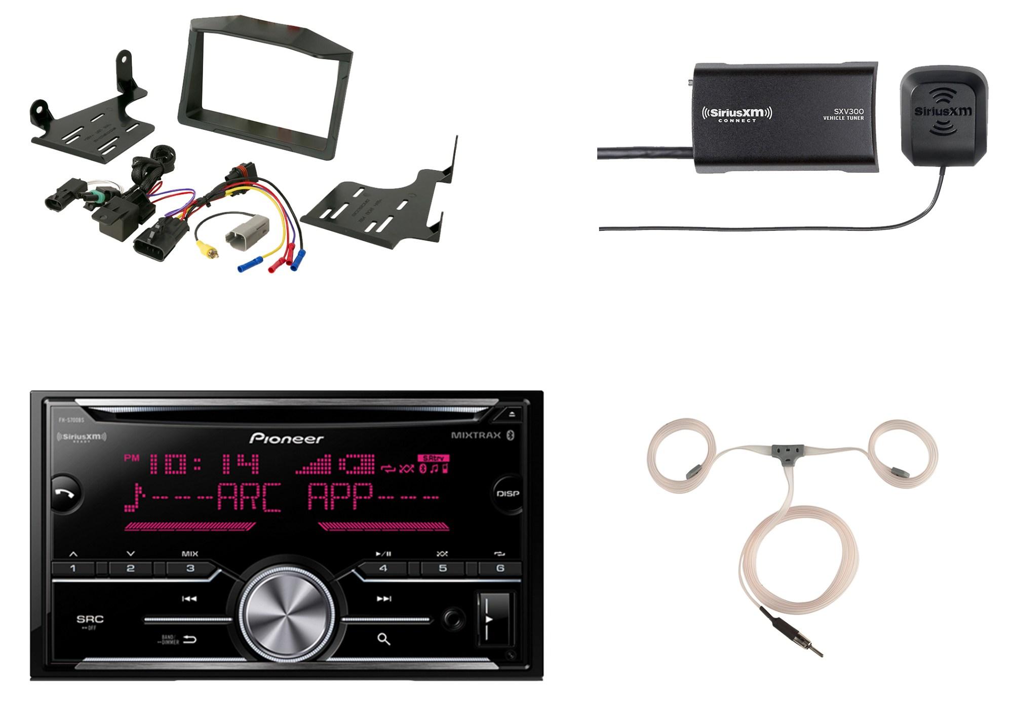 hight resolution of  harness auto pioneer bluetooth cd radio siriusxm tuner scosche polaris dash kit on ford stereo wiring