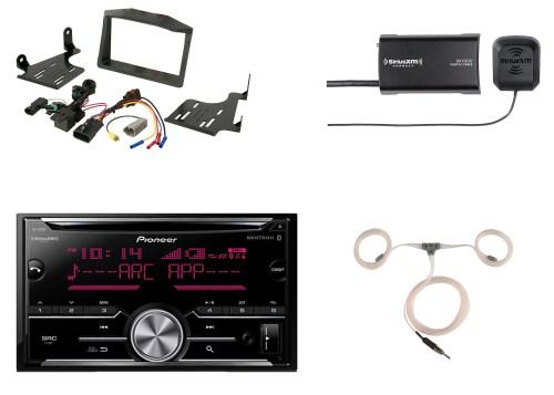 small resolution of  harness auto pioneer bluetooth cd radio siriusxm tuner scosche polaris dash kit on ford stereo wiring