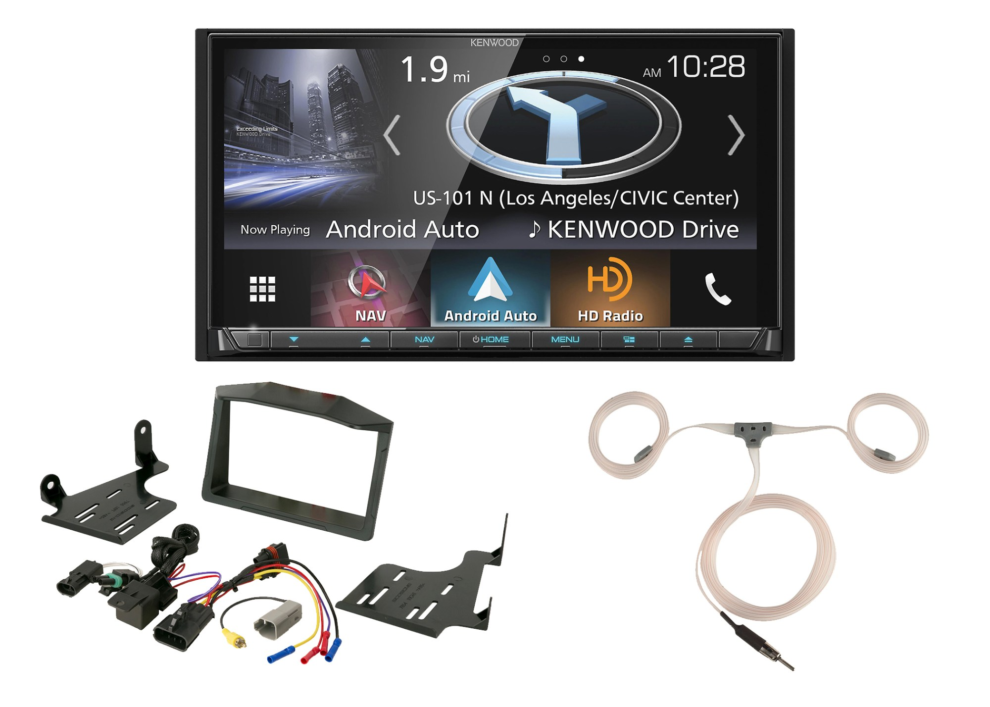 hight resolution of  wiring harness auto stereo kenwood navigation dvd radio scosche polaris dash kit enrock on ford